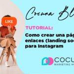 Como crear una página de enlaces o landing social para instagram